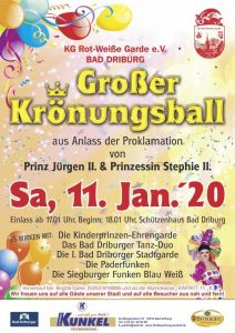 Read more about the article Einladung Krönungsball 2020