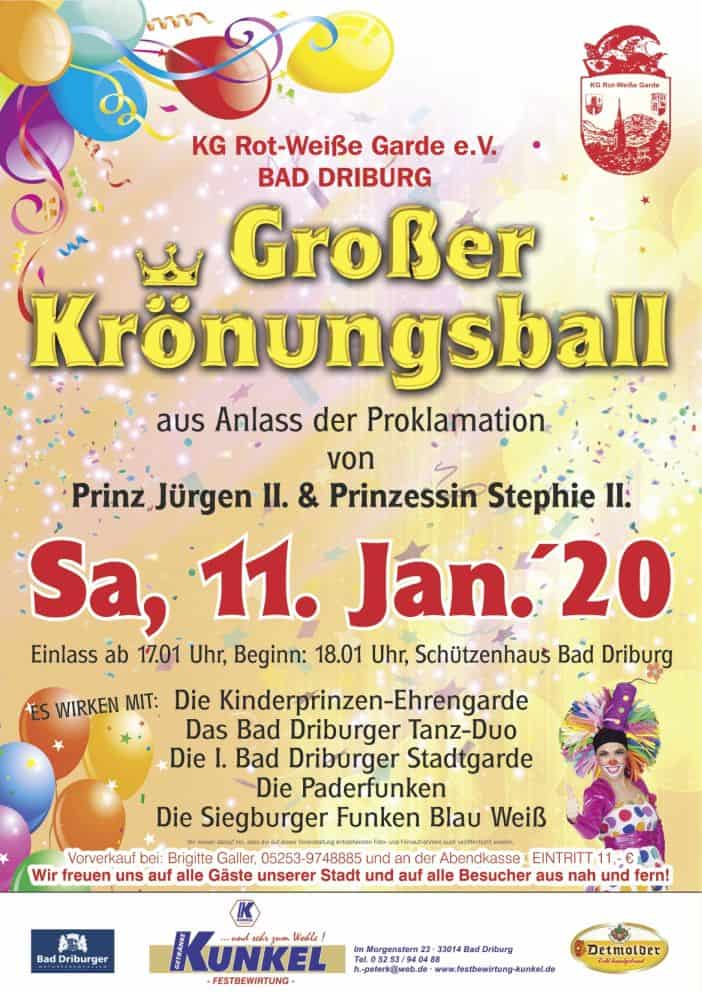 You are currently viewing Einladung Krönungsball 2020